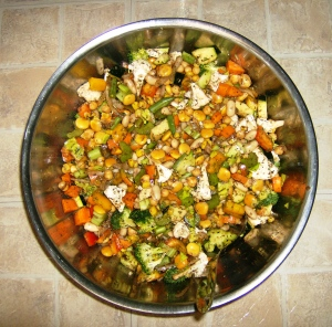 veg and bean salad